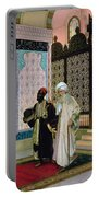 After Prayers At The Mosque Portable Battery Charger by Rudolphe Ernst
