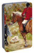 After The Hunt Portable Battery Charger by Diane Kraudelt