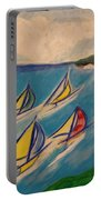 Afternoon Regatta By Jrr Portable Battery Charger by First Star Art