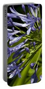 Agapanthus Flower And Bee Portable Battery Charger