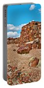 Agate House In Petrified Forest National Park-arizona  Portable Battery Charger