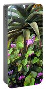 Agave And African Violets Portable Battery Charger