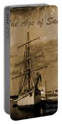 Age Of Sail Poster Portable Battery Charger by John Malone Halifax photographer
