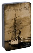 Age Of Sail Poster Portable Battery Charger
