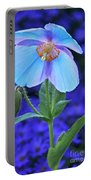 Aglow In Blue Tall View Portable Battery Charger