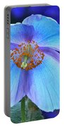 Aglow In Blue Wide View Portable Battery Charger