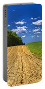 Agricultural Landscape - Young Corn Field Portable Battery Charger