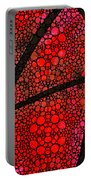 Ah - Red Stone Rock'd Art By Sharon Cummings Portable Battery Charger