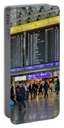 Airport Departure Board Frankfurt Germany Portable Battery Charger