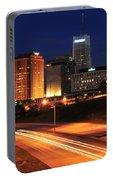 D1u-140 Akron Ohio Night Skyline Photo Portable Battery Charger