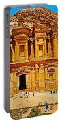 Al-dayr Or The Monastery In Petra-jordan  Portable Battery Charger