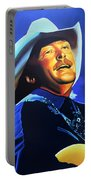 Alan Jackson Painting Portable Battery Charger