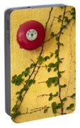 Alarm Bell And Vines Yellow Wall Portable Battery Charger