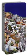 alba a Santorini Portable Battery Charger by Guido Borelli