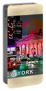 Albany New York Skyline Painting Portable Battery Charger