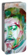 Albert Ayler - Watercolor Portrait Portable Battery Charger