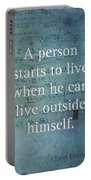 Albert Einstein Quote Person Starts To Live Science Math Formula On Canvas Portable Battery Charger