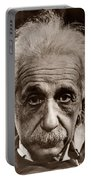 Albert Einstein Portable Battery Charger by Unknown