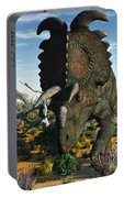 Albertaceratops Dinosaurs Grazing Portable Battery Charger