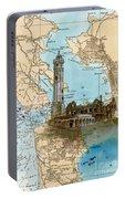 Alcatraz Island Lighthouse Ca Nautical Chart Map Art Portable Battery Charger