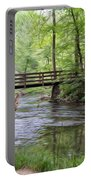Alert Deer By Bridge In Cades Cove Portable Battery Charger