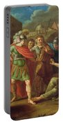 Alexander The Great Visits Diogenes At Corinth, 1787 Oil On Canvas Portable Battery Charger