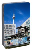 Alexanderplatz View On Television Tower Berlin Germany Portable Battery Charger