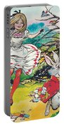 Alice In Wonderland Portable Battery Charger by Jesus Blasco