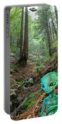 Alien In Redwood Forest Portable Battery Charger