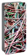 All Tied Up Abstract Art Portable Battery Charger