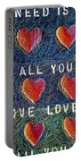 All You Need Is Love 2 Portable Battery Charger
