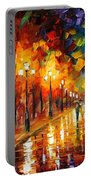 Alley Of The Memories - Palette Knife Oil Painting On Canvas By Leonid Afremov Portable Battery Charger