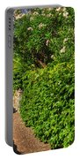 Alley With Green Plants Portable Battery Charger