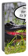 Alligator Birthday Card Portable Battery Charger