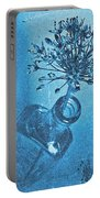 Allium Cyanotype Portable Battery Charger
