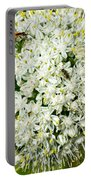 Allium Flower And Lightning Bug Portable Battery Charger