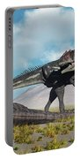 Allosaurus Dinosaurs Approaching Portable Battery Charger