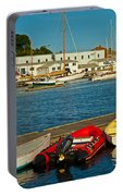 Alls Quiet In The Harbor Portable Battery Charger