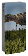 Alluring Aucasaurus In Grassland Portable Battery Charger