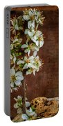Almond Blossom Portable Battery Charger by Marco Oliveira