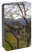 Almond Tree And Monastery   #9815 Portable Battery Charger