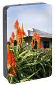 Aloe Vera And Tin Roof Plantation House Portable Battery Charger