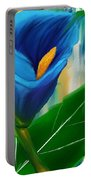 Alone In Blue- Calla Lily Paintings Portable Battery Charger