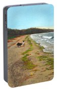 Along The Shore In Hyde Hole Beach Rhode Island Portable Battery Charger