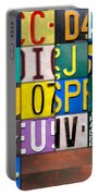 Alphabet License Plate Letters Artwork Portable Battery Charger