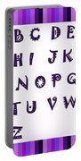 Alphabet With Purple Stripes Portable Battery Charger