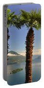 Alpine Lake With Island Portable Battery Charger