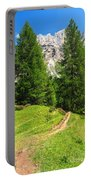 alpine path in Contrin Valley Portable Battery Charger