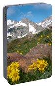Alpine Sunflower Mountain Landscape Portable Battery Charger