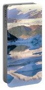 Alsek Glacier In St. Elias Mountains Portable Battery Charger
